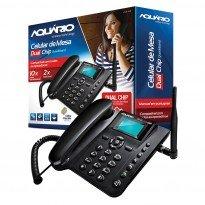 TELEFONE CEL MESA GSM QUAD/2CHIP AQUARIO