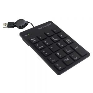 TECLADO NUMERICO C/FIO RETRATIL USB MULT