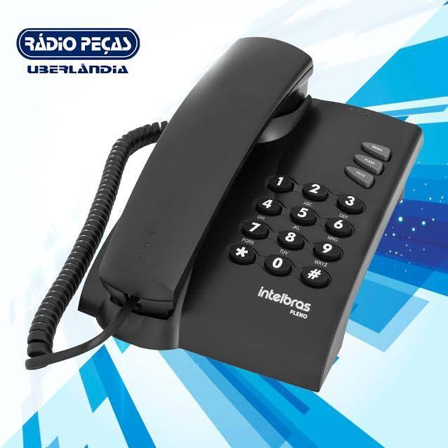 TELEFONE PLENO PRETO COM FIO INTELBRAS